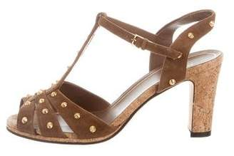 Gucci Studded Suede Sandals