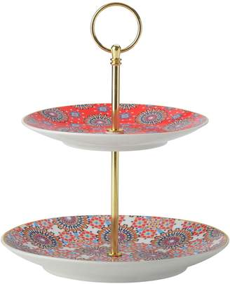 Maxwell & Williams Teas & C's Two-Tier Porcelain Cake Stand
