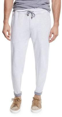 Brunello Cucinelli Men's Open Bottom Sweatpants