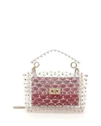 Valentino Rockstud Spike Plexi Medium Shoulder Bag