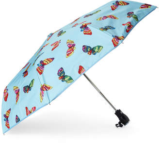 Moschino Light Blue Butterflies Auto Open & Close Umbrella