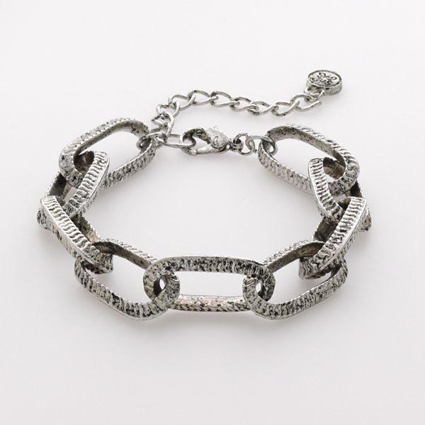 Simply vera vera wang silver-tone chain-link bracelet