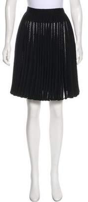 Alaia Pleated Knee-Length Skirt