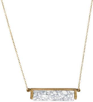 A.L.C. Howlite Bar Pendant Necklace $145 thestylecure.com