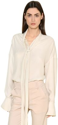 Silk Crepe Envers & Satin Shirt $1,395 thestylecure.com