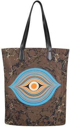 Dries Van Noten Printed Canvas Tote