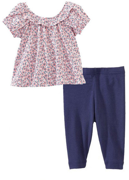 Petit Bateau Liberty Floral Print Tunic & Leggings Set