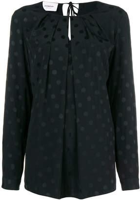 Dondup polka-dot shift blouse
