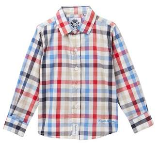 English Laundry Long Sleeve Woven Plaid Dress Shirt (Toddler & Little Boys)