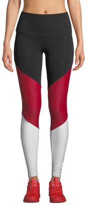 Onzie High-Rise Colorblock Track Leggings