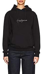 Yohji Yamamoto Women's Logo Cotton Terry Hoodie - Black