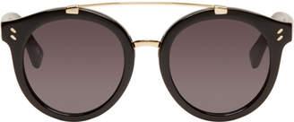 Stella McCartney Black Double Bridge Sunglasses