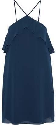 Haute Hippie Ruffle-Trimmed Georgette Mini Dress