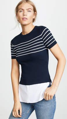 ONE by J4K Striped Short Sleeve Sweater