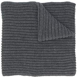 I Love Mr Mittens oversize ribbed knit scarf
