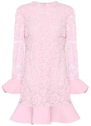 Valentino Lace flounce dress