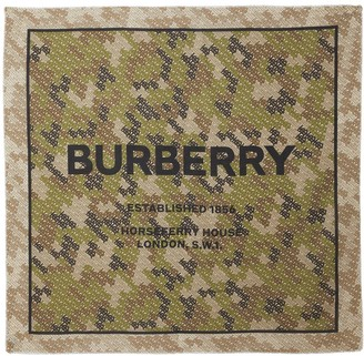 Burberry Horseferry Print Cotton Silk Large Square Scarf