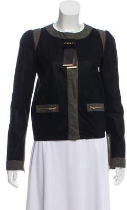 Fendi Suede Casual Jacket