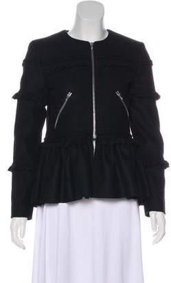 Preen Line Ruffled Wool Jacket