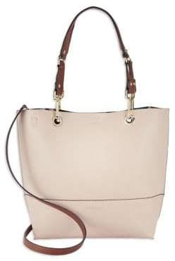 Calvin Klein Reversible Leather Satchel and Clutch Set