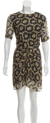 Isabel Marant Printed Short Sleeve Dress