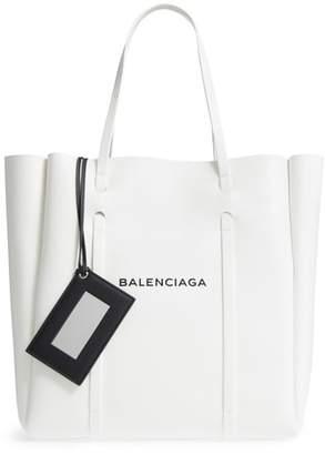 Balenciaga Medium Everyday Logo Leather Tote