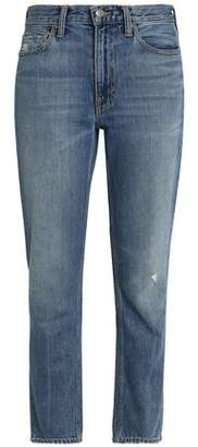 Vince (ヴィンス) - Vince. Distressed Faded High-Rise Slim-Leg Jeans