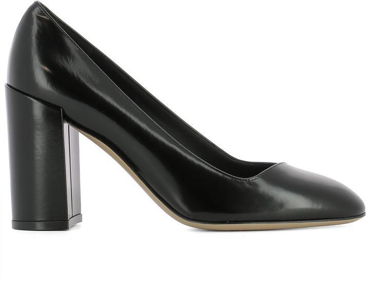Black Leather Arezzo85 Pumps