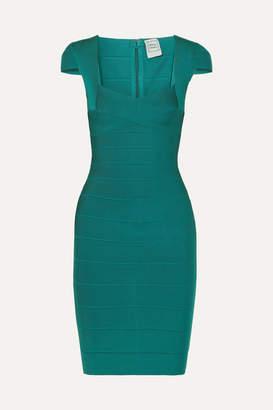 Herve Leger Bandage Mini Dress - Emerald