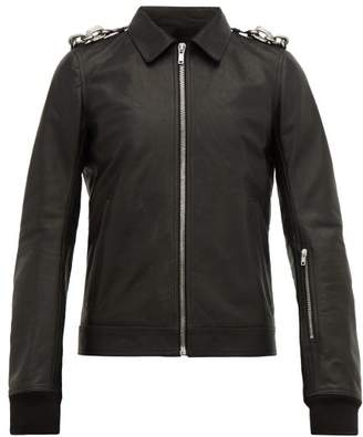 Rick Owens Rotterdam Leather Biker Jacket - Mens - Black