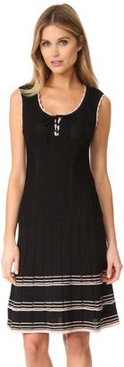 Nanette Lepore Santa Maria Lace Up Dress $378 thestylecure.com