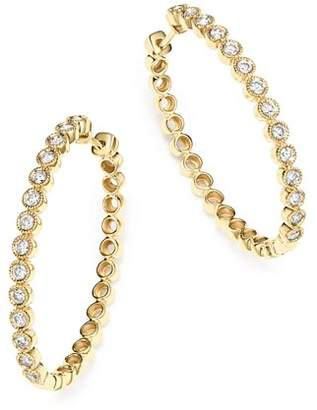 Bloomingdale's Diamond Milgrain Bezel Oval Hoop Earrings in 14K Yellow Gold, 1.0 ct. t.w. - 100% Exclusive