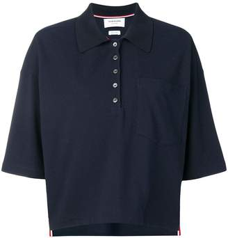 Thom Browne Piqué Cotton Oversized Pocket Polo