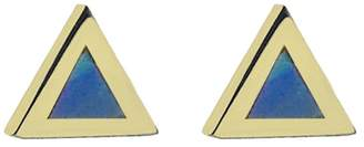 Jennifer Meyer Opal Inlay Triangle Stud Earrings