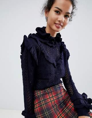 Glamorous frill detail sweater