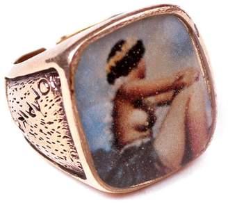 Lulu Frost George Frost USN Ring- Brass