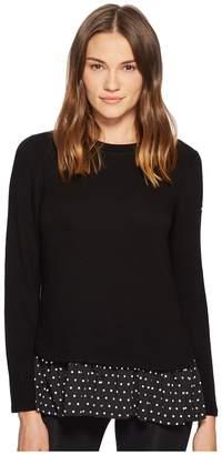 Kate Spade New York Athleisure Ruffle Hem Top Women's Clothing