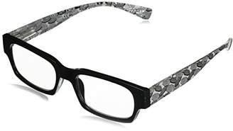 South Beach Peepers Women's Black 2425125 Rectangular Reading Glasses