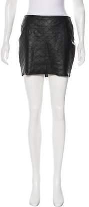 Rebecca Vallance Leather Mini Skirt
