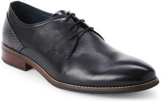 Hart Schaffner Marx Black Seattle Plain Toe Derby Shoes