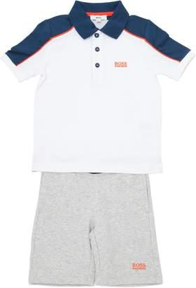HUGO BOSS Cotton Piqué Polo Shirt & Shorts