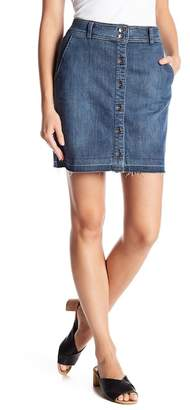 Splendid Frayed Hem Button Front Skirt