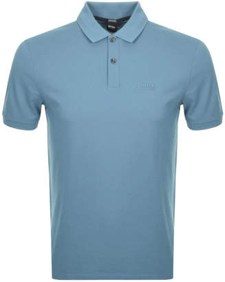 HUGO BOSS Boss Business Pallas Polo T Shirt Blue