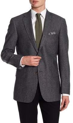 Hart Schaffner Marx Medium Grey Two Button Notch Lapel New York Fit Sport Coat