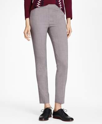 Brooks Brothers Micro-Plaid Stretch Wool Slim-Fit Pants