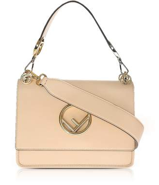 Fendi Kan I M Plaster Leather Top Handle Satchel Bag