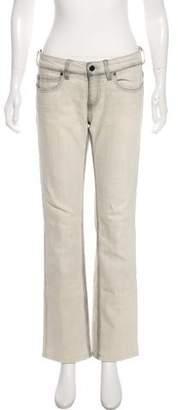 Stella McCartney Low-Rise Wide-Leg Distressed Jeans