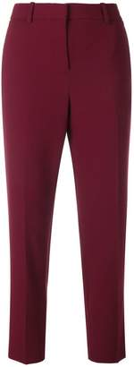 Theory cropped slim fit trousers