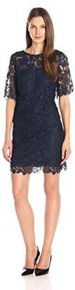 Julia Jordan Women's Elbow-Sleeve Chemical Lace A-Line Dress $40.43 thestylecure.com