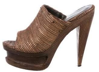 Elizabeth and James Woven Slide Sandals